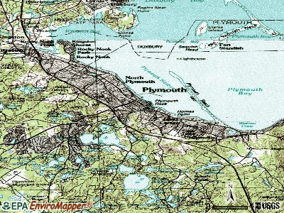 Plymouth topographic map