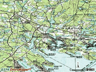 Wareham topographic map
