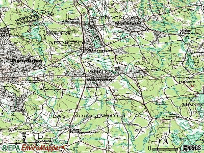 Whitman topographic map