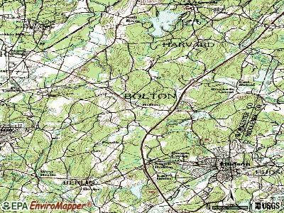 Bolton topographic map