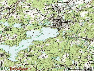 Boylston topographic map
