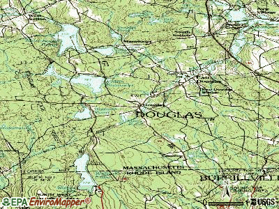 Douglas topographic map