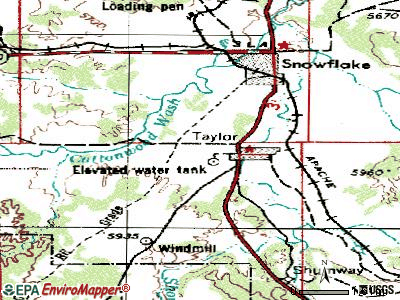 Taylor topographic map