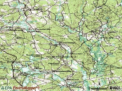 Northbridge topographic map