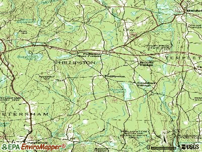 Phillipston topographic map