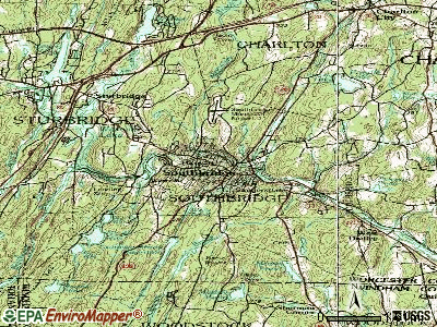 Southbridge topographic map