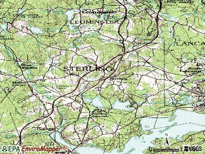 Sterling topographic map