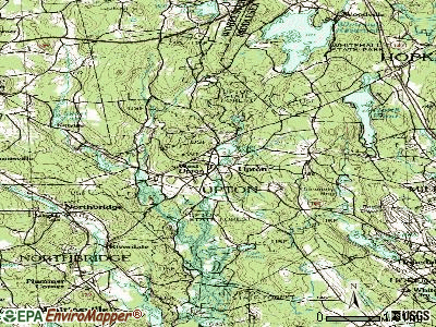Upton topographic map