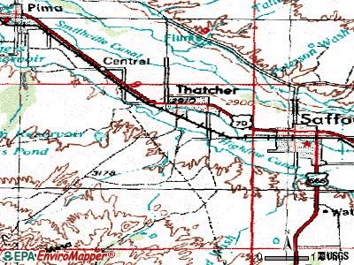 Thatcher topographic map