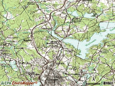 West Boylston topographic map