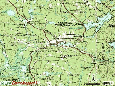 Winchendon topographic map