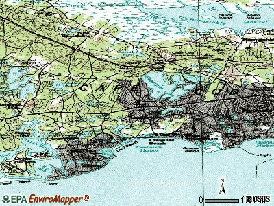 Barnstable Town topographic map