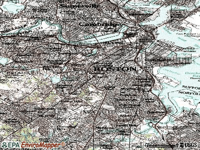 Boston topographic map