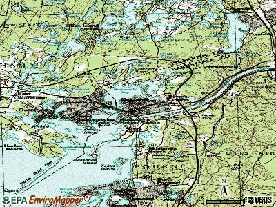 Buzzards Bay topographic map