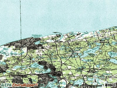 East Dennis topographic map