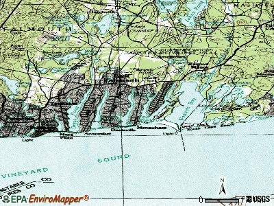 East Falmouth topographic map