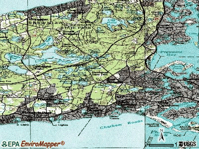 East Harwich topographic map
