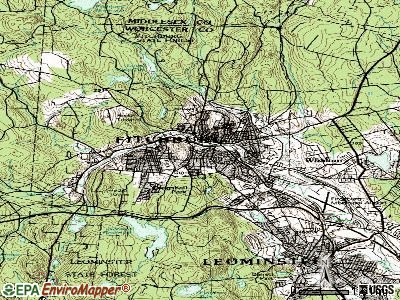 Fitchburg topographic map