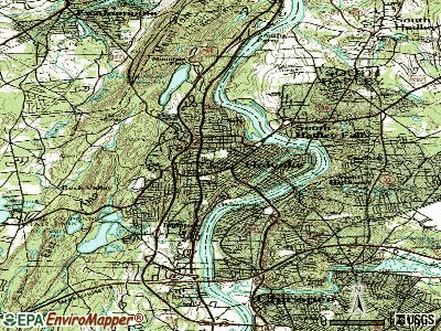 Holyoke topographic map