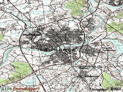 Lawrence topographic map