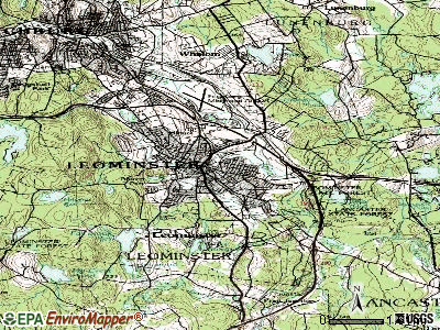 Leominster topographic map