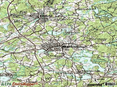 Marlborough topographic map