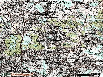 Melrose topographic map