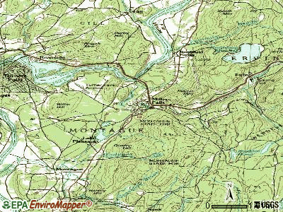 Millers Falls topographic map
