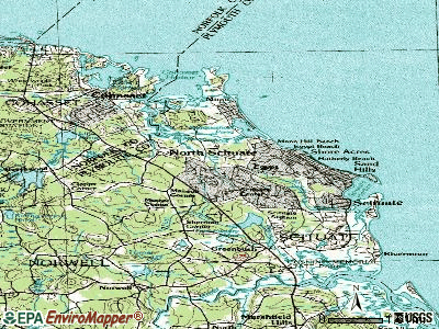 North Scituate topographic map