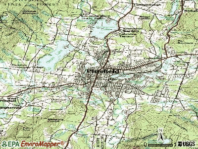 Pittsfield topographic map