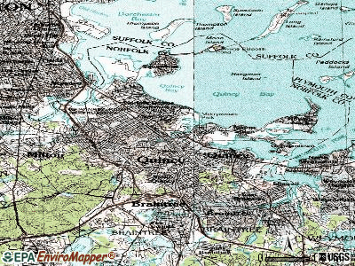 Quincy topographic map