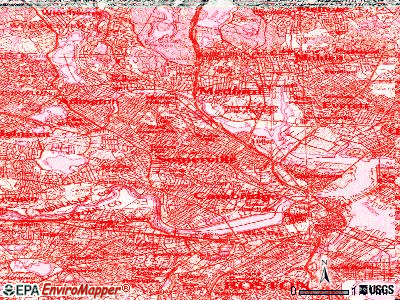 Somerville topographic map