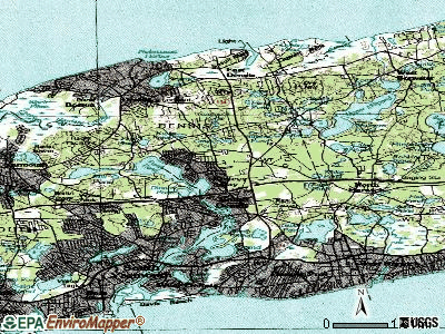 South Dennis topographic map