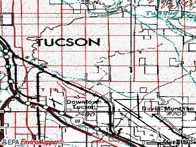 Tucson topographic map