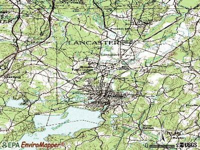 South Lancaster topographic map