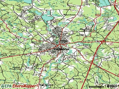 Taunton topographic map