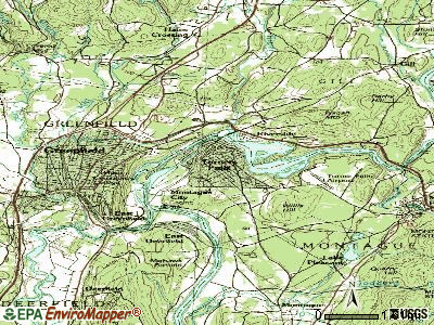 Turners Falls topographic map
