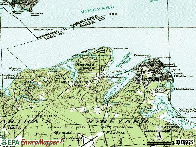 Vineyard Haven topographic map