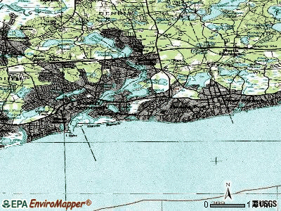 West Dennis topographic map