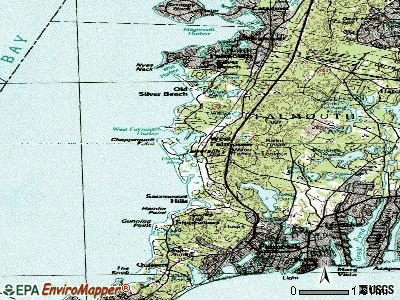 West Falmouth topographic map