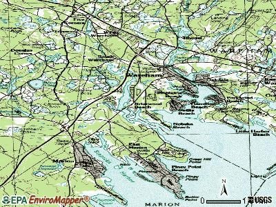 Weweantic topographic map