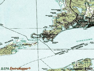 Woods Hole topographic map