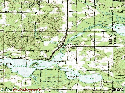 Alanson topographic map