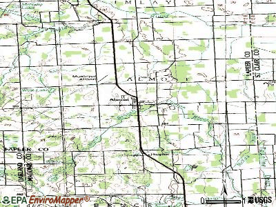 Almont topographic map