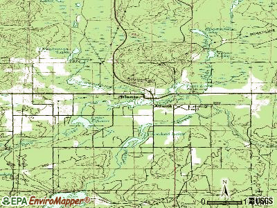 Atlanta topographic map