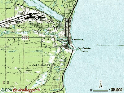 Au Sable topographic map