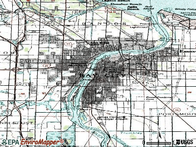 Bay City topographic map
