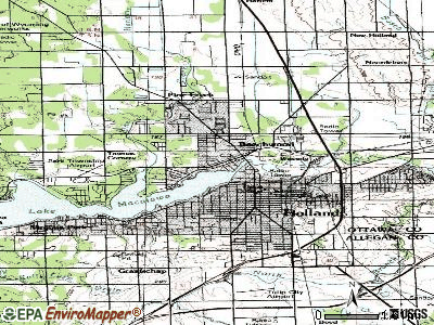 Beechwood topographic map