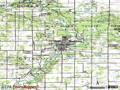 Belding topographic map