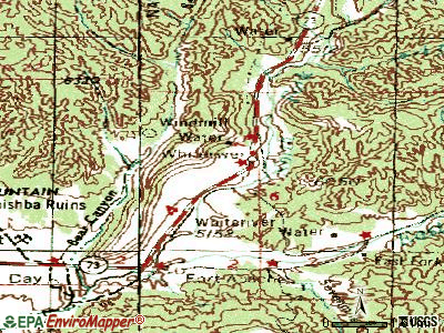 Whiteriver topographic map